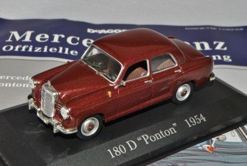 Ixo Mercedes-Benz 180D Ponton Limousine Rot Braun W120 1953-1962 Inkl Zeitschrift Nr 14 1/43 Modell Auto mit individiuellem Wunschkennzeichen -