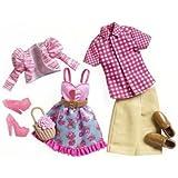 Matte X7864 - Set de ropa para Barbie y Ken, modelo de picnic