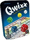 Laissez-vous emporter par la simplicité de ce jeu de dés palpitant ! Avec Qwixx, impossible de s'ennuyer: à son tour, chaque joueur lance les dés et tout le monde peut utiliser le résultat pour cocher un chiffre d'une de ses rangées. Plus vous coche...