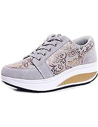 41665c28ee20 Solshine Damen Fashion Plateau Schnürer Sneakers mit Keilabsatz Walkmaxx  Schuhe…