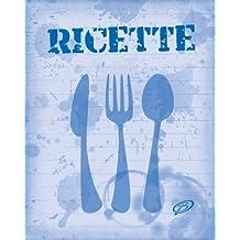 Ricette: Copertina colore blu - Quaderno per scrivere 100 ricette