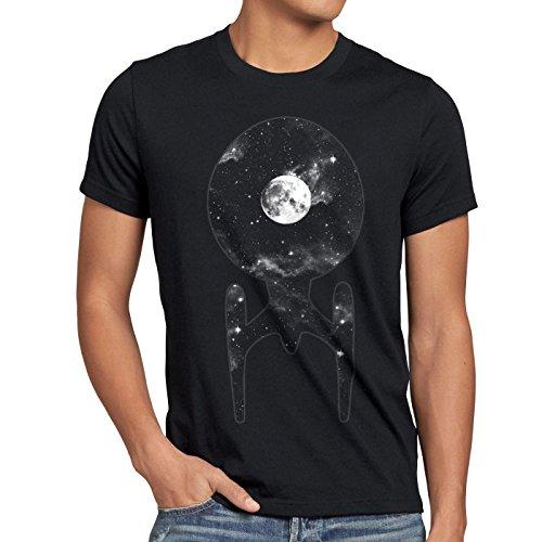 style3 Trek Raumschiff T-Shirt Herren trekkie star, Größe:M;Farbe:Schwarz