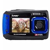 Knox double écran LCD 20MP caméra étanche et antichoc Digital (Bleu)