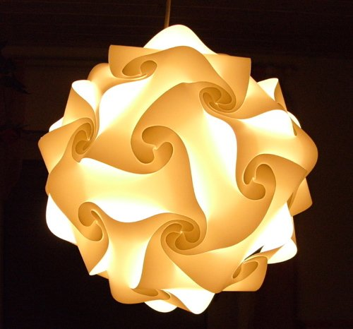 (Puzzle Lampe Gr.M ca. 24 cm Puzzlelampe schöne Deko verschied. Formen Neuware)