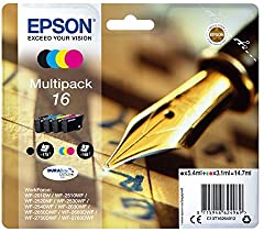 Epson C13t16264012 16 Series Multi Pack Ink Cartridges - Blackcyanmagentayellow