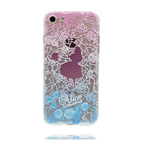 iPhone 6s Plus Custodia, Prova di scossa anti-graffio [ Cartoon Disney sirena fiore ] TPU Silicone Trasparente Nuovo Gel Soft Case iPhone 6/6S Plus Custodia (5.5 pollici) durevole Cartoon Cover # # 3