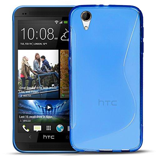 Conie Rückschale für HTC Desire 626, 626G - Silikon Schutzhülle im S-Line Design Hülle aus TPU, Kratzfest Kantenschutz, Desire 626 Handyschale