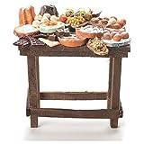 Tisch mit Süßspeisen Wachs Krippe 20,5x20x13 cm