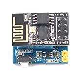SODIAL ESP8266 ESP-01S serie Transceptor inalambrico + Monitor de humedad de temperatura DHT11 Sensor de escudo Tarjeta de adaptador de modulo Wifi