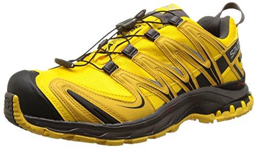 Salomon Homme XA Lite GTX, Black/Quiet Shade/Monument, Synthétique/Textile, Chaussures de Course à Pied et Trail Running, Taille 44.6 Gelb (Bee-X/Sunny-X/Autobahn)