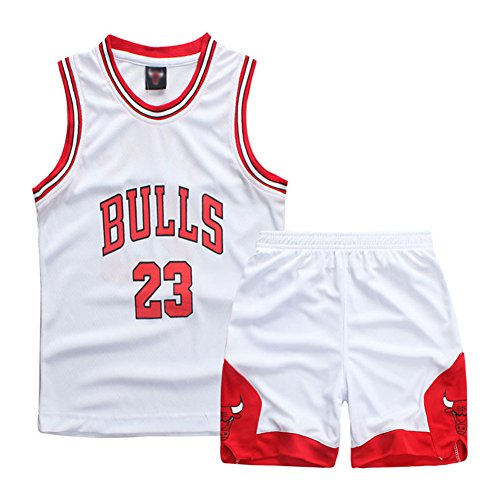 Sokaly Ragazzi Chicago Bulls Jorden # 23 Golden State Curry BOSTON Pantaloncini da Basket Jerseys set di abbigliamento sportivo Maglie...