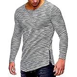 MEIbax Männer Casual Herbst Langarm Slim O Neck Reißverschluss Farbe Garn Tops Bluse Shirts Pullover Sweatshirts für Herren