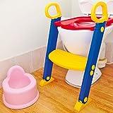 Taylor & Braun® Baby Kleinkind Leiter Schritt Töpfchen Training WC Sitz/Töpfchen Zug Leiter WC-Sitz/faltbar Toilette Ausbildung Leiter platzsparend/Greifer Griffe für Stabilität und Vertrauen