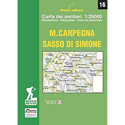 M. Carpegna Sasso Di Simone. Carta Dei Sentieri 1:25000