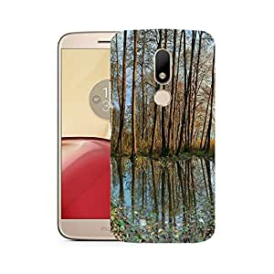 Snoogg Small Pond In Forest Designer Protective Phone Back Case Cover For Motorola Moto M