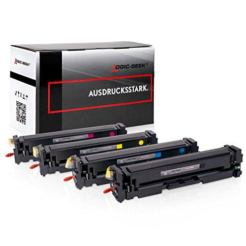 4 Logic-Seek XL Toner Kompatibel zu HP Laserjet Pro MFP M277dw CF400-X/201X - Laserjet Pro M252 M274 - Neuste Chipgeneration -