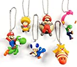 New Super Mario Danglers Collectable Mascot Key Rings