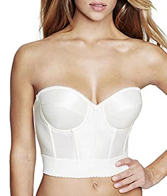 Dominique Low Cut Backless Longline Bra - 6377, Ivory, 32A