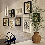 Massivholz-Rahmen-Wand, moderne Foto-Wand-Ausgangshintergrund-Wand-Dekoration stellte 12 Stück-Foto-Rahmen-Wand, Umweltschutz - Sprühfarbe ein ( Farbe : Schwarz+Weiss )