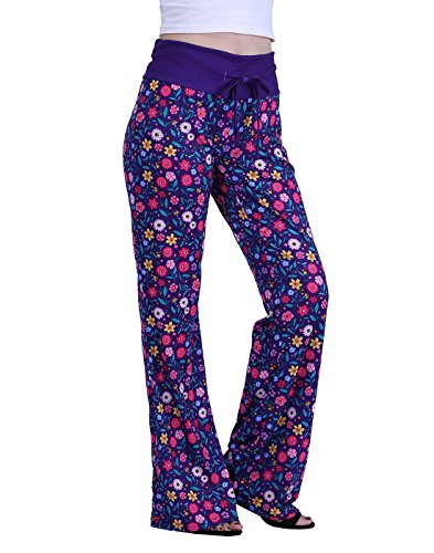 HDE Womens Wide Leg Pyjama Pants Sleepwear Casual Loose Lounge PJ Yoga Bottoms