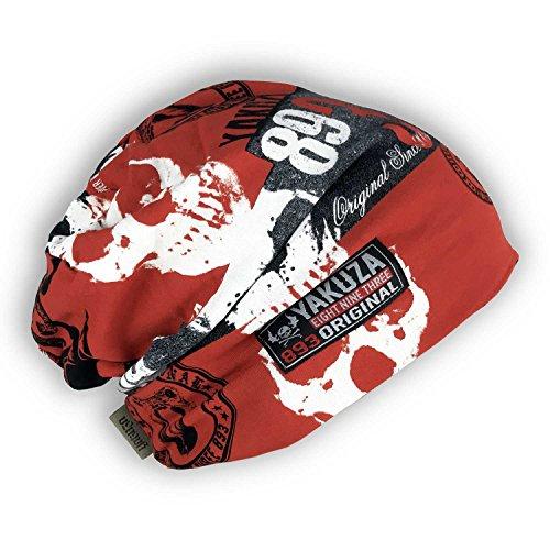 Yakuza Original Unisex Reel Beanie Mütze, Rot, One size