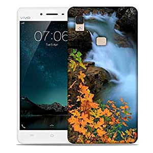 Snoogg Water Flowning In Great Force Designer Protective Phone Back Case Cover For Vivo V3 Max