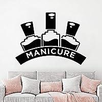 Nails Art Polish Wall Decals Removable Nail Vinyl Art Sticker Manicure Pedicure Wall Art Poster Nail Salon Widnow Murals 57x77cm