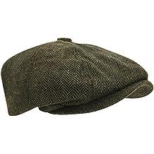 Boina / Visera Modelo Herringbone con 8 paneles y lana mezclada apra hombre caballero
