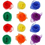 OULII Square Dance-Schals-Pack von 12 (Random Color) Gesäumt Jonglier-Tücher