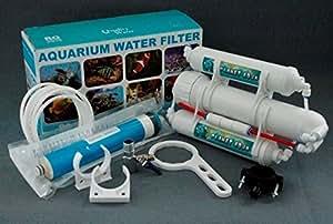 Umkehr Osmoseanlage und Wasserfilter mit 75 GPD / 270 L/24std für das Aquarium Haushalt / Küche und zum Camping Trinkwasser Umkehrosmose Ersatzfilter Membran Aktivkohlefilter