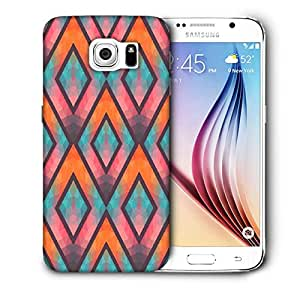 Snoogg Abstract Multicolor Triangles Printed Protective Phone Back Case Cover For Samsung Galaxy S6 / S IIIIII