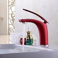 XXTT-Miscelatore lavabo Luo rame placcatura di alta qualità rosso lavabo rubinetto Rubinetto del bagno