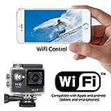 Rocam Full HD 1080p WIFI 2.0 pulgadas gran ángel de 170 ° Lente impermeable Buceo Deportes de Acción Casco de la cámara bicicleta coche cámara de vídeo