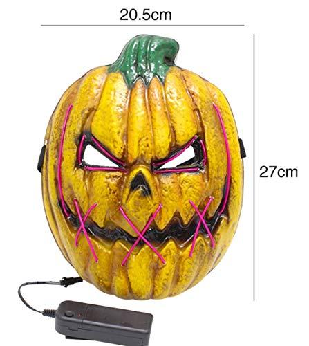 Tragen Zu Kleinkind Einfach Kostüm - FIREWSJ Halloween Maske Einfach Zu Kürbisform Kaltes Licht Maske Kostüm Halloween Dekoration Glühen Spiel Rolle Spielen Urlaub Party Cover Zufällige Farbe Zu Tragen
