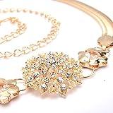 JIEJING Damen 100% metal Gürtel,Élégant Gold Kette Gürtel Dekoration Kleid Gürtel-golden 58cm