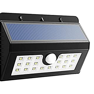 Solar LED Wall Lamp with Twilight Sensor and Movement 20LED 8Hours of Battery Life