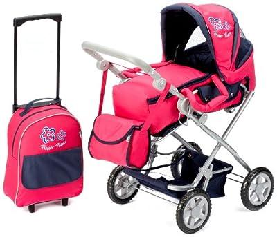 Knorr 61466 Luke - Cochecito de bebé de juguete con trolley, color rosa de KNORRTOYS.COM