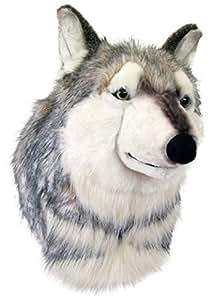 Wagner 8015 - Plüschtrophäe Wolfskopf - lebensecht - XL - Plüschtier Trophäe Wolf Plüsch