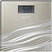 Imetec BM3 300 Bilancia Pesapersone Elettronica, Calcola l'indice di massa corporea, beige,