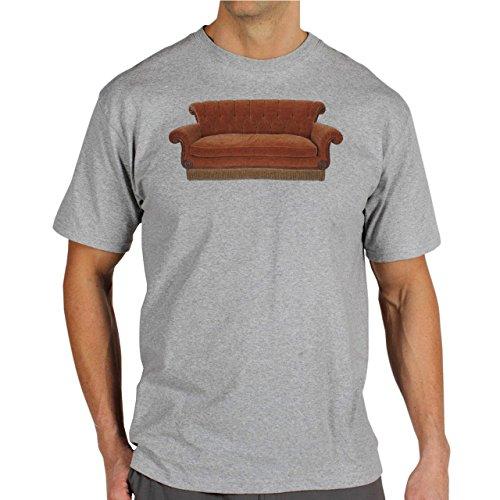 Friends Couch Background Herren T-Shirt Grau