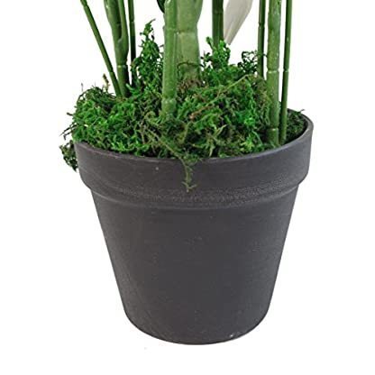 Leaf Planta de arbusto Artificial Grande de bambú, 65 cm, Color Verde