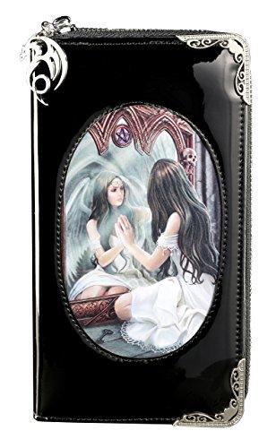 Gothic Portemonnaie mit 3D Motiv | Magic Mirror von Anne Stokes | Engel Geldbörse Fantasy Geldbeutel Lack (Engel Geldbörse)