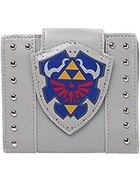 Bioworld NINTENDO Legend of Zelda Hylian Shield Bi-Fold Wallet, One Size, Light Grey (MW202060ZEL) Porte-monnaie, 17 cm, Gris (Grey)