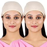#2: Adishi Women's Beige Color Herbal Helmet Cap (Pack of 2)