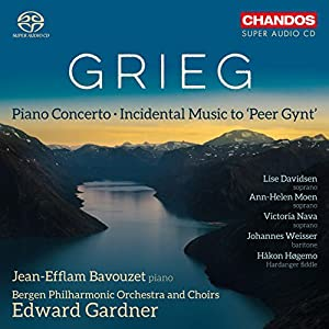 Grieg: Piano Concerto [Jean-Efflam Bavouzet; Bergen Philarmonic Orchestra and Choirs; Edward Gardner] [Chandos: CHSA 5190] from Chandos