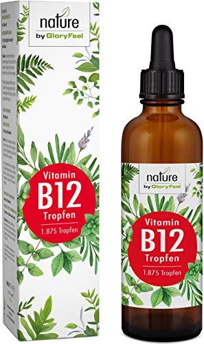 Vitamin B12 Tropfen 75ml 1000µg - 1.875 Vegane Tropfen zum Einführungspreis - Beide Bio-Aktivformen (Methyl- & Adenosylcobalamin) - Laborgeprüft hergestellt in Deutschland -