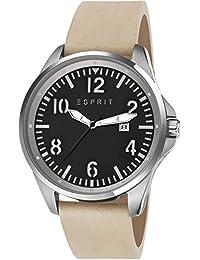 Esprit Herren-Armbanduhr Tallac Brave Analog Quarz Leder