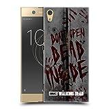 Offizielle AMC The Walking Dead Dead Inside Typografie Ruckseite Hülle für Sony Xperia XA1 Ultra/Dual