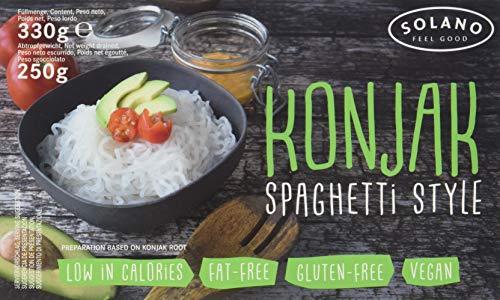 Solano Konjaknudel im 5er-Set (Konjak-Spaghetti aus Konjakmehl, die Shirataki Nudeln sind vegan, fettfrei, glutenfrei, kalorienarm, eignen sich ideal für Diäten)