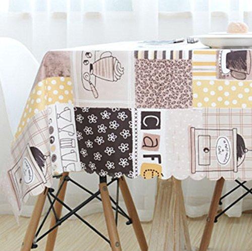 Tischdecke Idyllische Tischdecke Wasserdicht Und Ölfrei Ohne Waschen Die Tischset Lange Couchtisch Wohnzimmer Staub Tuch Kaffee Haus Dekoration Tischdecke,135*180Cm